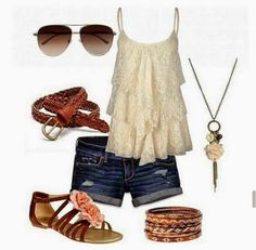Fantastic Summer Outfit ~ Love the top!