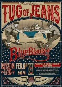 dirtyculture: Blue Blanket Via Mr Randal of Denim Bro Vintage Labels, Vintage Posters, Randal, Hand Type, Blue Blanket, Blue Dream, Worlds Of Fun, Vintage Denim, Hand Lettering