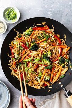 Quick and easy vegan vegetable chow mein! Chewy noodles, chow mein sauce and all the veggies! Customise the vegetables and choose your vegan protein! Veggie Chow Mein, Chow Mein Recipe Vegetable, Vegetable Lo Mein, Vegetable Recipes, Vegan Recipes Easy, Asian Recipes, Vegetarian Recipes, Cooking Recipes, Ethnic Recipes