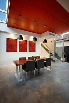 LSA #Architects designed this amazing South Yarra #Modern #House with beautiful dining space.