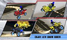 Are you ready to ride on quad bike on xtreme thrilling and bumpiest terrain with insane jumps and stunts? Get Quad ATV Snow Mobile Rider Sim; newest 3D simulation game for android gamers.  You done many racing bikes and trail simulator games, now get ready to perform crazy stunts from ramps in Quad ATV Snow Mobile Rider Sim. Clear various hurdles and obstacles, use nitro booster for high jumps in the air. Become an ultimate stuntman with daredevil challenging missions. As pro bi...