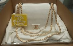 Calumet Bakery Chanel Purse Cake White and Gold