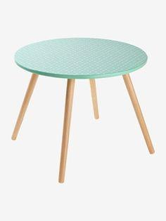 Table ronde Pastels fruités - vert/bois
