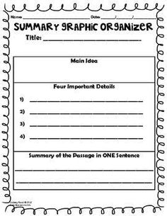 summary organizers nonfiction - Google Search
