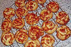 Mini - Pizzaschnecken aus Blätterteig