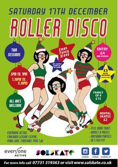 Roller Skating at Fareham Leisure Centre Xmas Party 2016