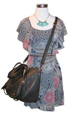 Spring Ready - Tulle dress, handbag, Ornamental Things necklace and Cowboysbelt studded belt  #spring14