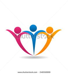 Vector Teamwork Logo Stock Photos, Images, & Pictures | Shutterstock
