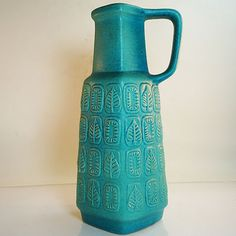 West German Pottery Vase • Fat Lava • Bay