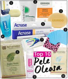 10 produtos para peles oleosas por até R$15,00: tem sabonetes, tônicos, esfoliantes, loção secativa, argila verde, quartzo esfoliante, lenços e muito mais!