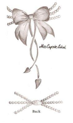 Black n Grey Pearl Bow Tattoo by ~Cupcake-Lakai on deviantART