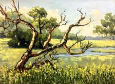 Rebault Club Road Tree- SOLD  St George Island 9x12 inches oil on panel $400.00 http://www.lindablondheim.com See this painting at my Loft Studio at 4122 NW 16th BLVD, Next to Fresh Market in Gainesville, FL. Please Repin