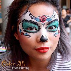 Sugar Skull Makeup - Color Me Face Painting - Vanessa Mendoza