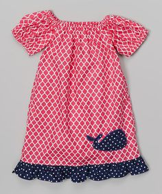Look what I found on #zulily! nolafionnah Pink Quatrefoil Whale Dress - Infant, Toddler & Girls by nolafionnah #zulilyfinds