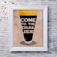 Dark Side Print on Etsy.com