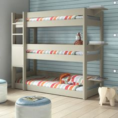 "Kids Bedroom 3 Tier Triple Bunk Bed - Three in the bed and the little one said ""this is the coolest bunk bed EVER!!"""