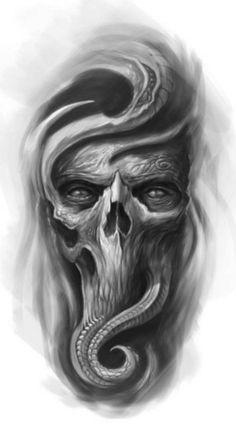 Skull wallpaper by sarushivaanjali - - Free on ZEDGE™ Skull Tattoo Design, Skull Tattoos, Body Art Tattoos, Sleeve Tattoos, Cool Tattoos, Tattoo Designs, Bild Tattoos, Neue Tattoos, Devil Tattoo