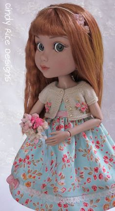 """Blue Skies for my Roses"", a hand made ensemble made for Wilde Imagination's Patience doll, cindyricedesigns.com ."