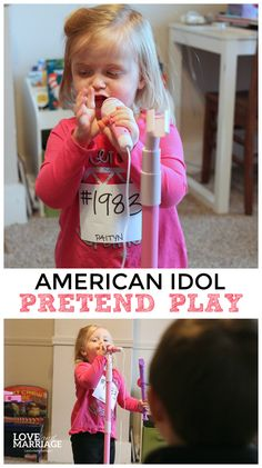 American Idol pretend play for kids. So much fun and really simple setup.