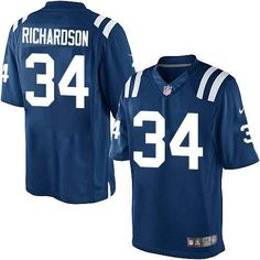 """$23.88 at """"MaryJersey""""(maryjerseyelway@gmail.com) Nike Colts #34 Trent Richardson Royal Blue Team Color Men's Embroidered NFL Limited Jersey"""