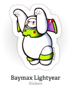 Baymax Lightyear sticker - Red Bubble