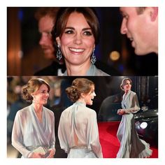 Kate stuns again at the #Spectre premier in London two nights ago in a grey/ice-blue Jenny Packham gown. The Duchess attended the premier with her husband and Prince Harry. She borrowed drop earrings from her mother Carol for the event (Carol wore them to the royal wedding reception in 2011, and the pair of earrings are estimated to be worth £15,000). • #katemiddleton #moviepremier #jennypackham #duchess #london #duke #royals #blakelively #mileycyrus #kimye #krisjenner #halloween #model