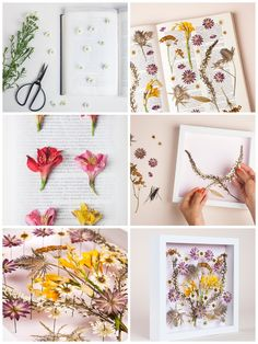▷ 1001 + ideas for spring decorations tinker with natural materials - make your own wall decoration, floral picture, dried flowers, white picture frame, mothers day gift - Dried Flower Bouquet, Dried Flowers, Felt Christmas Decorations, Christmas Diy, White Picture Frames, Simple Doodles, Gold Diy, Diy Pallet Projects, Natural Materials