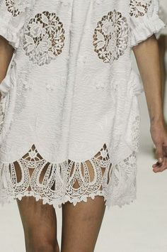 White Cotton Embroidery | Lace Fashion