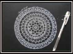 Tutorial #3 (How to draw a mandala on black paper) - YouTube