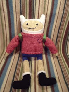 Free Knit Finn the Human (from Adventure Time) pattern