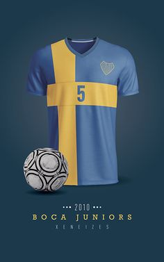 Boca Juniors - Camiseta 2010 Football Shirts, Shirt Designs, Soccer, Behance, Sports, T Shirt, Duke, Graphic Art, Wallpapers