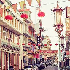 China Town, San Francisco. When I was little, I thought it was magical and used to love the doll statues made of sea shells.