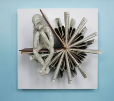 Thinker on Sundial Fold Original Sculpture