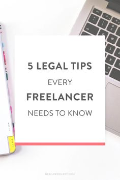 Today, my friend (and awesome attorney)Jackieis here to teach you five  legal tips all freelancers should know. Legally protecting your business is  important- we all know that- but doing it right can seem hard and  intimidating.  Jackie is here to take that confusion away.  Look out for h