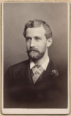 Handsome Well Dressed Boston Beard Moustache Man Vtg CDV Photo Gay Int | eBay