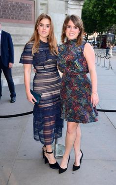 telegraph: Victoria and Albert Summer Party 2017, June 21, 2017-Princess Beatrice and Princess Eugenie