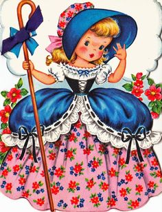 Vintage Fairfield Little Bo-Peep Collectable Happy Birthday Greetings Card Vintage Birthday Cards, Happy Birthday Greeting Card, Vintage Greeting Cards, Vintage Valentines, Birthday Greetings, Vintage Postcards, Vintage Images, Birthday Wishes, Birthday Quotes