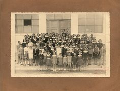 A photo of a school class.Greece, twentieth century. Courtesy Peloponnesian Folklore Foundation, all rights reserved.