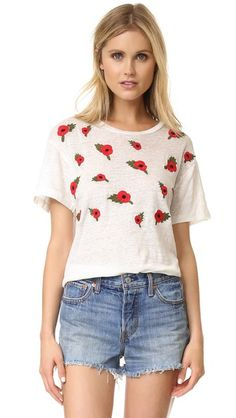 Banner Day poppies tee