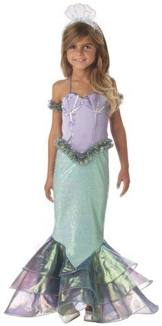 Magical Mermaid Child Girls Little Ariel Halloween Costume Fancy Dress Girls Mermaid Costume, Mermaid Halloween Costumes, Halloween Fancy Dress, Mermaid Headpiece, Mermaid Gown, Mermaid Kids, The Little Mermaid, Mermaid Float, Dress Up Costumes