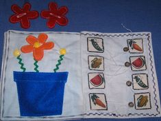 use the string to match the pictures. Cute idea for a quiet book. no patterns or anything.