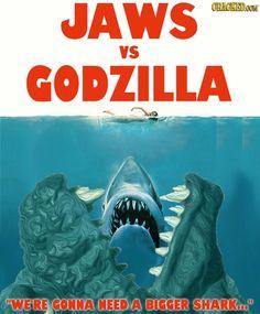 40 Great Movies Made Better by Adding Godzilla All Godzilla Monsters, Godzilla Vs, Original Godzilla, Cartoon Meme, Godzilla Birthday Party, Big Shark, Funny Test, Music Illustration, Funny Posters