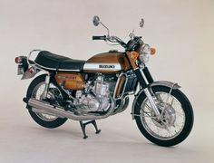 Vintage 1971 Suzuki GT750 Motorcycle.