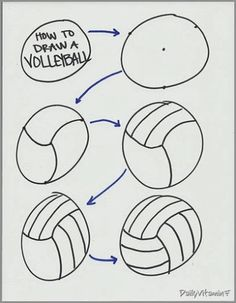 how to draw a volleyball player