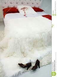Witte bonte sprei