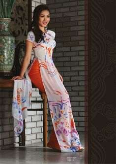 Home :: Áo dài vải Thái Tuấn :: Ao Dai Thai Tuan fabric VT091