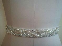 Items similar to SALE - Wedding Belt, Bridal Belt, Sash Belt, Crystal Rhinestone & Off White Pearls - Style on Etsy Wedding Dress Sash, Wedding Belts, Bridal Accessories, Bridal Jewelry, Sash Belts, Crystal Wedding, Crystal Rhinestone, Crystals, Formal Wear