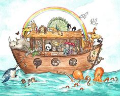 Noah's Ark Illustration -- By Georgia Dunn