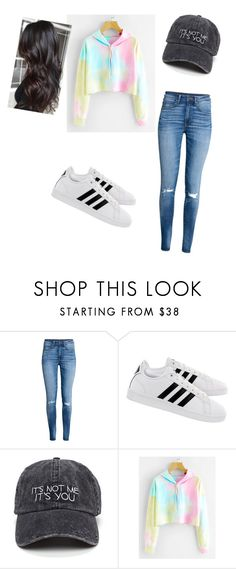 """Untitled #328"" by strangerthinqs ❤ liked on Polyvore featuring H&M and adidas"