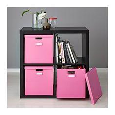 TJENA Kannellinen laatikko - roosa - IKEA